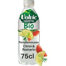Volvic Eau minérale aromatisée citron pamplemousse et romarin bio 75cl