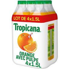 Tropicana Pur jus d'orange avec pulpe 4x1,5l