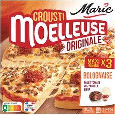 MARIE Pizza crousti moelleuse à la bolognaise 3 pizzas 1,2kg
