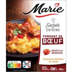 MARIE Fondant de boeuf sauce basquaise et écrasé de pommes de terre 1 portion 300g