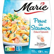 MARIE Penne au saumon et crème d'Epinard 1 portion 280g