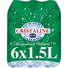 Cristaline Eau de source gazeuse 6x1,5l