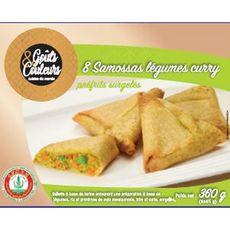 GOUTS & COULEURS Samoussas de légumes au curry 8 pièces  360g