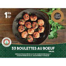 GOUTS & COULEURS boulettes de boeuf halal 33 boulettes 1kg