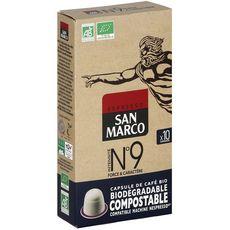 San Marco Café bio n°9 en capsule biodégradable compatible Nespresso 51g