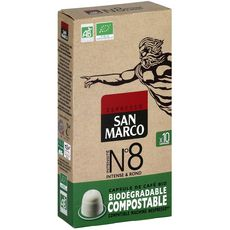 San Marco Café bio n°8 en capsule biodégradable compatible Nespresso 51g