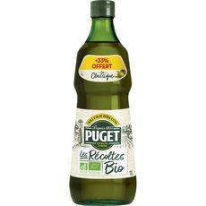 Puget Huile d'olive vierge extra extraite à froid bio 75cl +33% offert