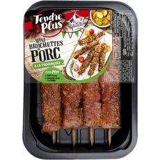 TENDRE & PLUS Mini brochettes de porc à la provençale 4 pièces 240g