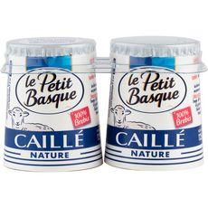 PETIT BASQUE Caillé pur brebis nature 2x125g 2x125g
