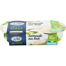 PETIT BASQUE Semoule au lait bio 2x140g