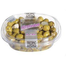 TROPIC APERO Olive vertes dénoyautées à la méditerranéenne 200g