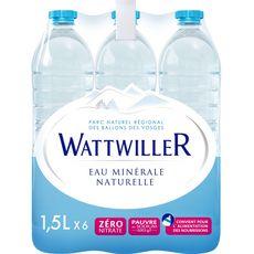 Wattwiller Eau minérale naturelle plate bouteilles 1,5l