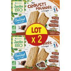 JARDIN BIO ETIC Jardin Bio Biscuits croustillants fourrés au chocolat au lait 2x170g 2x170g