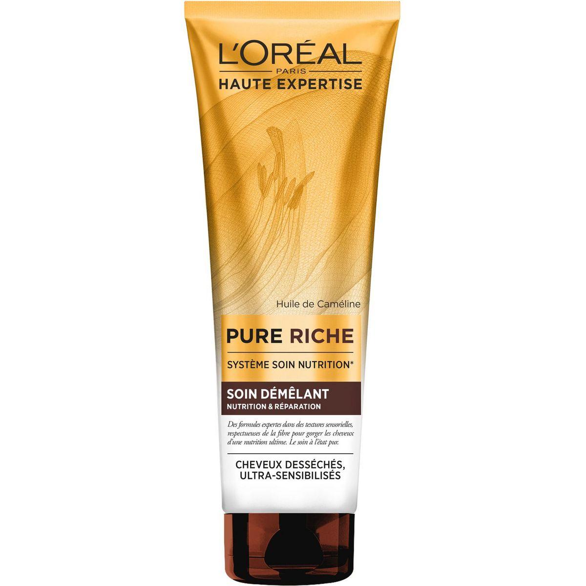 L'Oréal Pure Riche soin démêlant cheveux desséchés, sensibilisés 250ml