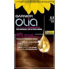 GARNIER Garnier Olia Coloration permanente sans ammoniaque 5.3 châtain clair doré 3 produits 1 kit