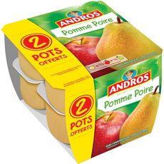 Andros Dessert de fruits de pomme poire 8x100g