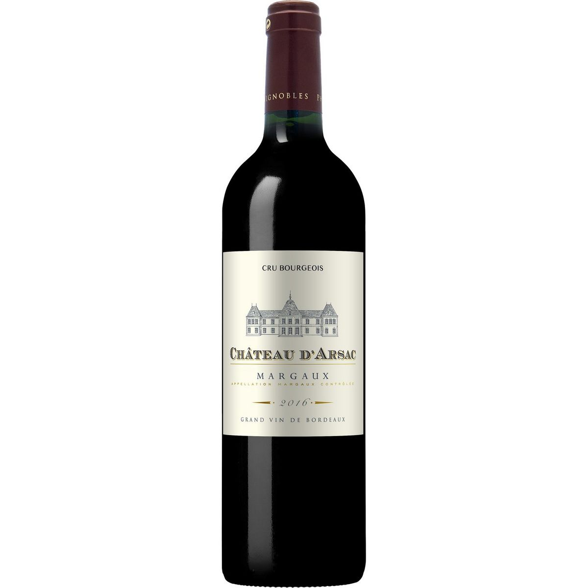AOP Margaux cru bourgeois Château d'Arsac Bordeaux rouge 2016