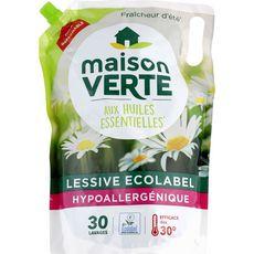 MAISON VERTE Lessive liquide aux huiles essentielles fraîcheur d'été 30 lavages 1,8l