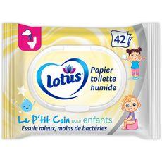 LOTUS Lingettes papier toilette humide pour enfants 42 lingettes