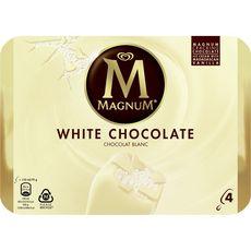 MAGNUM Magnum Bâtonnet glacé au chocolat blanc 316g 4 pièces 316g