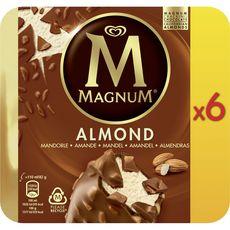 Magnum Bâtonnet glacé à la vanille enrobé de chocolat aux amandes x6 -490g