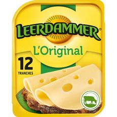 LEERDAMMER L'Original Fromage nature en tranche 12 tranches 300g