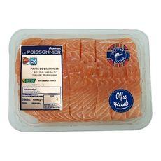 AUCHAN LE POISSONNIER Auchan Le Poissonnier Pavé de saumon sans arête Ecosse 8x125g 8x125g