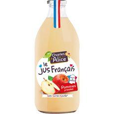 CHARLES & ALICE Jus de pommes sans sucre ajoutés 1L