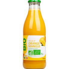 AUCHAN BIO Pur jus d'orange et mangue 1l