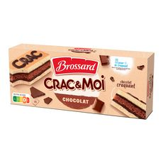 BROSSARD Crac&moi au chocolat craquant, sachetss individuels 5 gâteaux 155g