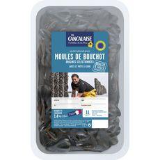 Moules de Bouchot élevées en France 2l 3 personnes 1.4kg