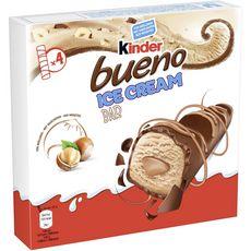 Kinder Bueno Barre glacée noisettes enrobée de chocolat au lait  x4-128g