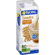 BJORG Boisson à l'épeautre bio sans sucres ajoutés 1l