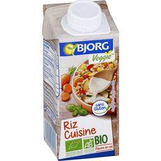 BJORG Riz cuisine bio veggie pauvre en sel 20cl