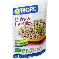 BJORG Quinoa lentilles bio veggie en poche 1 à 2 personnes 250g