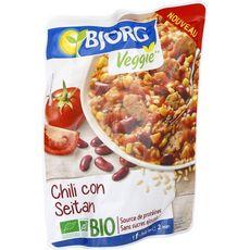 BJORG Chili con seitan bio veggie sans sucres ajoutés 1 personne 220g