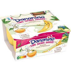 DANONINO Petit suisse à la banane et fleur d'oranger 4x90g
