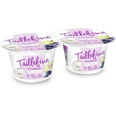 TAILLEFINE Skyr allégé myrtilles lavande et jus de raisin 2x145g