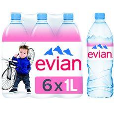 EVIAN Evian Eau minérale plate naturelle 6x1l 6x1l