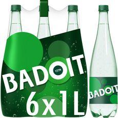 BADOIT Eau minérale gazeuse verte finement pétillante 6x1l