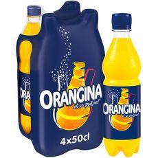ORANGINA Boisson gazeuse à la pulpe de fruit jaune bouteilles 4x50cl