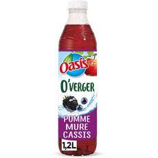 OASIS Oasis O Verger eau aromatisée pomme mûre cassis sans sucre ajouté 1,2l 1,2l