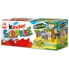 KINDER Oeuf surprise Natoons 3 pièces 60g