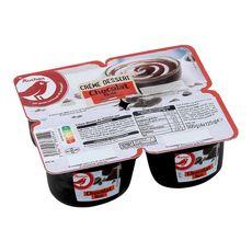 AUCHAN Crème dessert au chocolat noir 4x125g