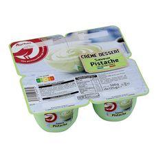 AUCHAN Crème dessert à la pistache 4x125g