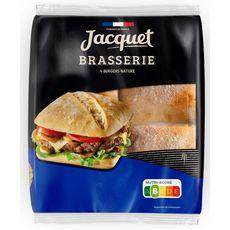 JACQUET Burgers brasserie nature x4 330g