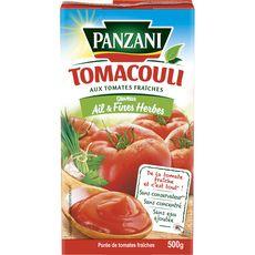 PANZANI Tomacouli Purée de tomates ail & fines herbes en brique 500g