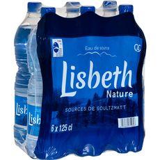 LISBETH Lisbeth Eau de source plate nature 6x1,25l 6x1,25l