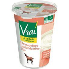 VRAI VRAI Fromage blanc bio au lait de chèvre 400g 400g