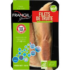 FRANGIL Filets de truite fumés bio 2 pièces 125g